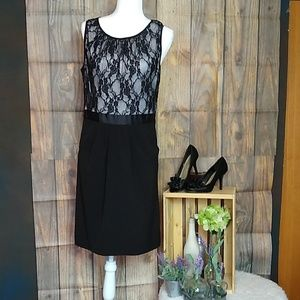 Maurices Black & White Lace Career Dress Size11/12